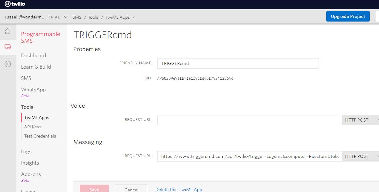 Twilio API 1