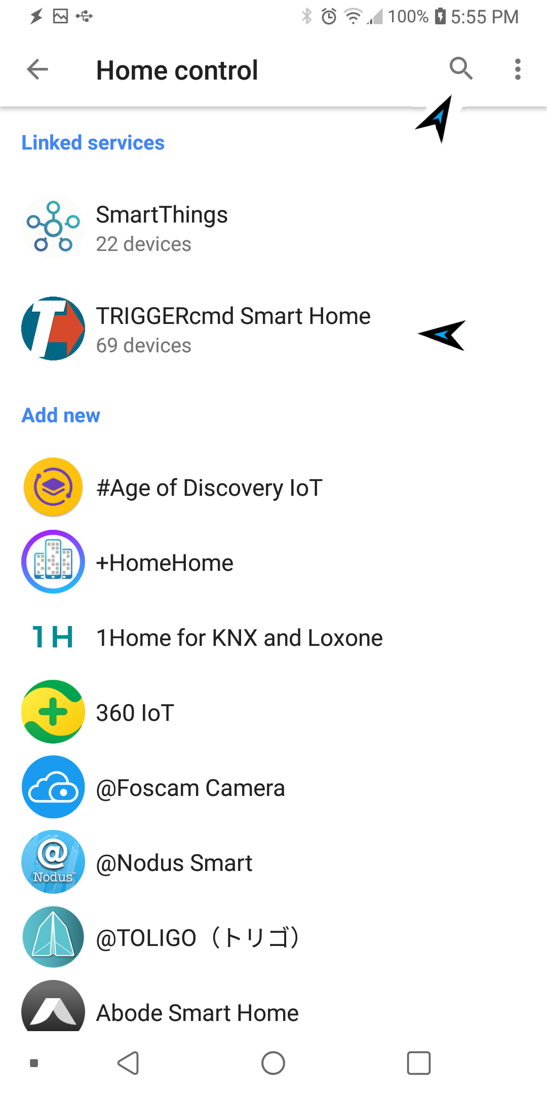 Search TRIGGERcmd Smart Home