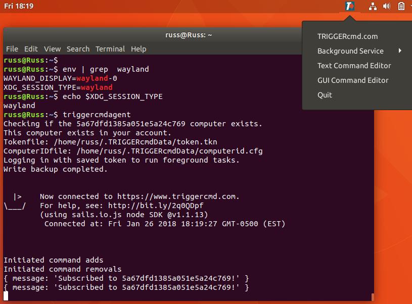 TRIGGERcmd Ubuntu